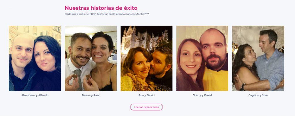 parejas reales que se han conocido en meetic